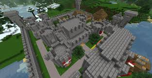 small castle village thing minecraft project