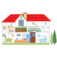 house layout clipart illustration with concept of house purchased royalty free cliparts