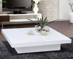 White Coffee Table White Living Room Tables Glossy White Modern Storage Coffee Table