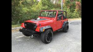 red jeep red jeep wrangler tj with toyota supra engine youtube