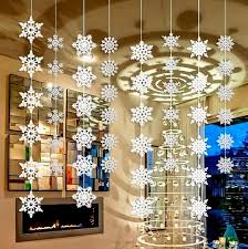 wholesale 50packs silver snowflake wall hanging decoration for
