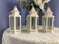 white lantern centerpieces lantern candle holder small white 13360 ebay