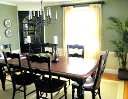 black painted dining table