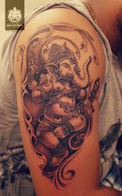 ganesha tattoo on shoulder dancing ganesha tattoo design 2 jpg 595 960 ด ไซน pinterest