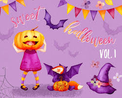watercolor halloween clipart witch hat clipart watercolor