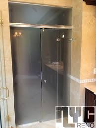 Shower Door Nyc Hydroslide Bi Fold Custom Glass Shower Doors Nyc Reno