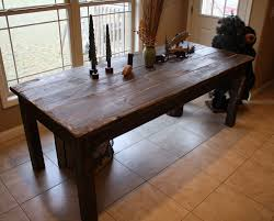 Primitive Dining Room Tables Beautiful Fishing Lake Cabin Dark Walnut Stained Primitive