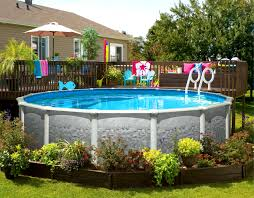 furniture tasty backyard above ground pool landscaping ideas