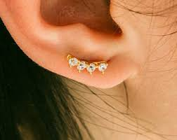 bar earring cartilage cz snowflake cartilage earring simple cz barbell mini