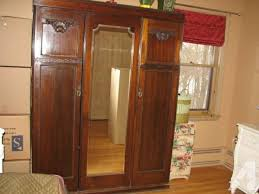 Mirror Armoire Wardrobe Bedroom Nice Details About French Triple Armoire 1910 Antique