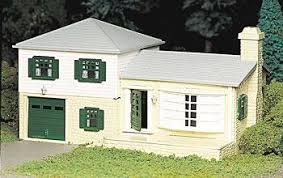 split level house two story split level house kit o scale model railroad building
