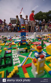 Giant Map United States Of Lego Hundreds Of Children Flocked To A