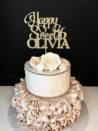 sweet 16 cake topper any name glitter happy sweet 16 birthday cake topper sweet