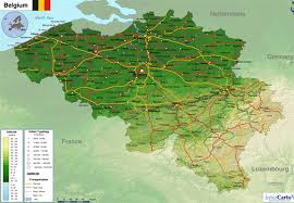 physical map of belgium geographical map of belgium major tourist attractions maps