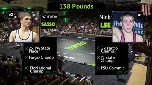 138 lbs sammy sasso pa vs nick lee in flowrestling