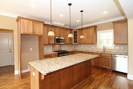 Simple Kitchen Island Kitchen Oak Kitchen Cabinets Wooden Varnished Kitchen Island