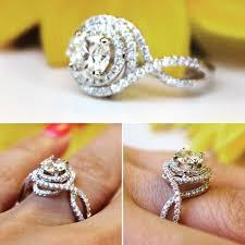 morganite sapphire engagement rings diamond halo by bluesunflowers