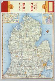 Map Of Detroit Michigan Shell Highway Map Of Michigan Southern Portion David Rumsey