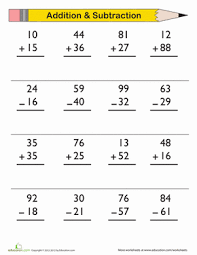 addition and subtraction worksheets for grade subtraction subtraction worksheets with base ten blocks free