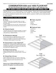 flooring users guides from