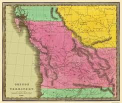 Oregon Map Us by Old State Map Oregon Territory Greenleaf 1840