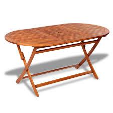 Wooden Outdoor Tables Vidaxl Wooden Outdoor Dining Set 6 Chairs 1 Oval Table Vidaxl Com