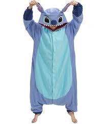 girls halloween pajamas amazon com stitch pajama costume one size fits all blue clothing