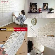 100pcs 3d foam stone brick self adhesive wallpaper wall sticker