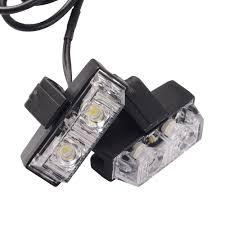 led strobe light kit 1 kit white strobe lights 12v 16w car emergency light bars deck dash