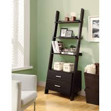 computer desk in living room ideas decorating inspiring ladder bookshelf for simple furniture ideas