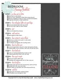 bedroom cleaning checklist home planning ideas 2017