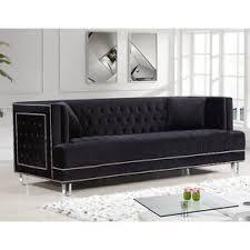 Grey Fabric Chesterfield Sofa by Tufted Sofas You U0027ll Love Wayfair