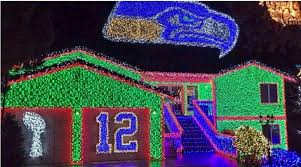 the great christmas light show video seattle seahawks fan has incredible christmas light show si com
