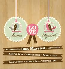 Just Married Cards Just Married Card Vector Free Vector Graphic Download