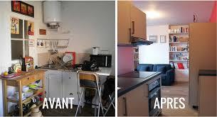 renovation cuisine bois avant apres relooking meubles cuisine on decoration d interieur moderne bois
