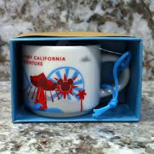 mug ornament disney california adventure starbucks paradise pier mug ornament