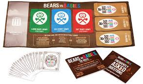 amazon com bears vs babies a card game from the creators of