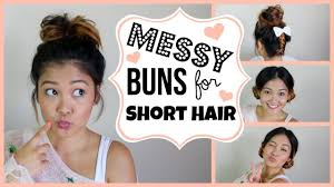 easy buns for medium hair braided updo hairstyles tutorials pretty
