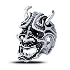 cool rings for men the ring mask evbea japanese cool hannya statement rings for