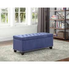 homepop nail head trim storage bench k6159 f1332 the home depot