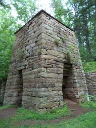 iron furnaces in a national forest deceptively beautiful ruins
