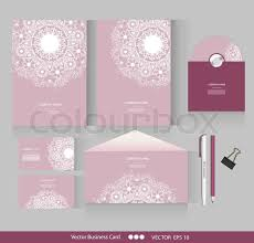 corporate identity vector templates geometric pattern envelope