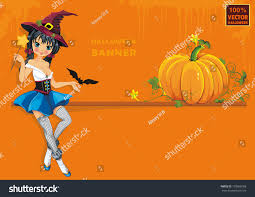 congratulation poster beautiful witch pumpkin classical congratulation stock