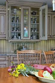 Glass Shelves Kitchen Cabinets Distressed Kitchen Cabinets Custom Made Cabinets And Design Ideas