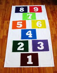 encouraging imagination indoor hopscotch mat u2013 somewhere in the