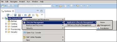 sap hana administration lifecycle management