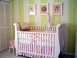 Baby Room Decorating Ideas Baby Nursery Classy Baby Room Design With Green Stripped