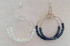 make wire and bead hoops for every mood and