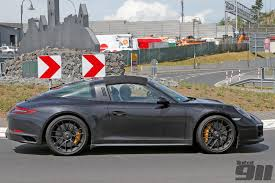 porsche 911 carrera gts black exclusive porsche 991 2 targa gts spied at nürburgring total 911
