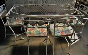 Patio High Table by Furniture Classic Look Of Wrought Iron Patio Dining Set Nu